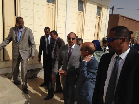 ولد عبد العزيز يبدأ زيارته لولاية نواكشوط الشمالية من مقاطعة تيارت
