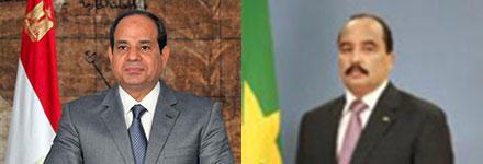 الرئيس الموريتاني يعزي نظيره المصري إثر هجوم مسجد الروضة